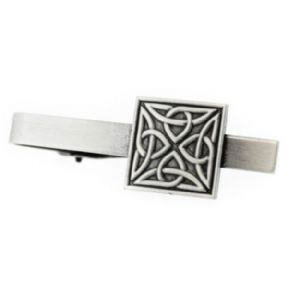 Celtic Trinity Knots Pewter Square Tiebar 9861